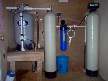 Well water filter installation diagram diy pond filter for Pond water treatment systems